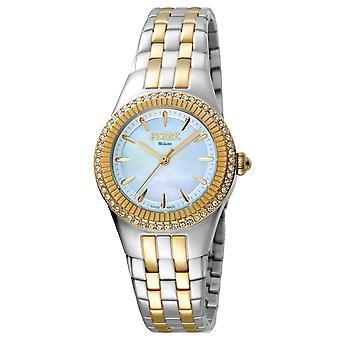 Ferre Milano FM1L089M0091 Naiset's Vaaleansininen Dial Stainle Steel Watch