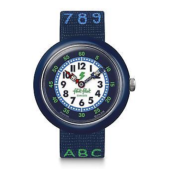 Flik Flak Fbnp132 Blue Ab34 Textile Alphabet & Numbers Watch