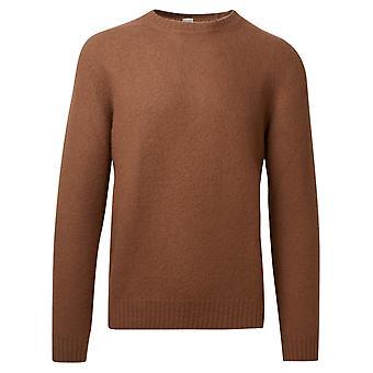 Eleventy B76magb47mag0b06204 Men's Brown Wool Sweater