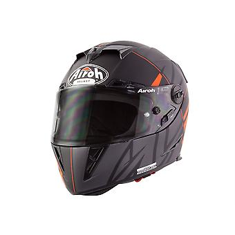 Airoh GP500 Full Face Motorcycle Helmet Black Orange ACU Approved