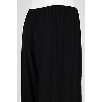 Pantalones de punto sólido de cintura elástica