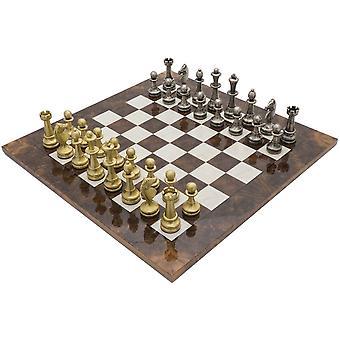 فيسنزا الجوز الداكن الفاخرة مجموعة الشطرنج