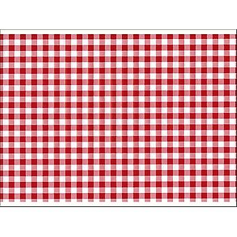 Fablon 45cm x 2m Red Gingham FAB12822