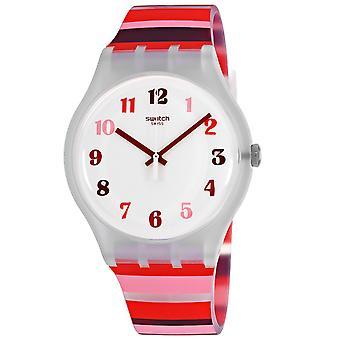 Swatch Men's Tramonto White Dial Watch - SUOK138