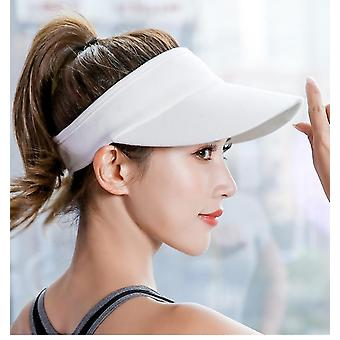 Casual Sun Visor Hat,nature Straw Topless Cap