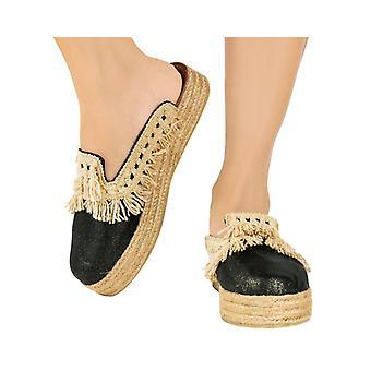 Lia Mule Platform Sandals Black