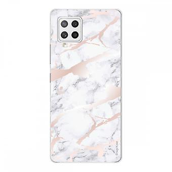 Samsung Galaxy A42 5g Morbido Silicone 1 Mm, Effetto Marmo Rosa