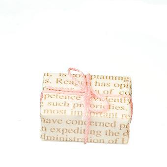 Puppen Haus Vintage gewickelt Geschenk rosa Schleife Weihnachten Geburtstag Geschenk Zubehör