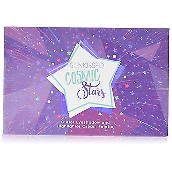 Sunkissed Cosmic Stars Palette 5 x 1.6g Eyeshadows + 1 x 1.5g Highlighter Cream