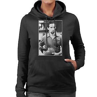 The Big Lebowski Jesus Bowling Greyscale Women's Hooded Sweatshirt