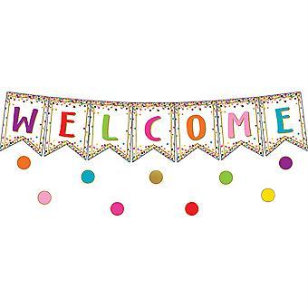 Confeti Pennants Welcome Bulletin Board Display