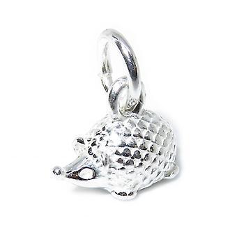 Tiny Mignon Hedgehog Sterling Silver Charm .925 X 1 Hedgehogs Charms - 8387