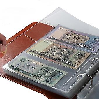 10kpl rahasetelin paperiraha-albumin sivun kerääjä