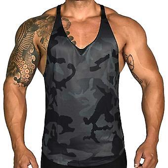 Men's Tank Top Kuntosali Fitness Tight Sports Casual Toppi, Miesten Hihaton Liivi,