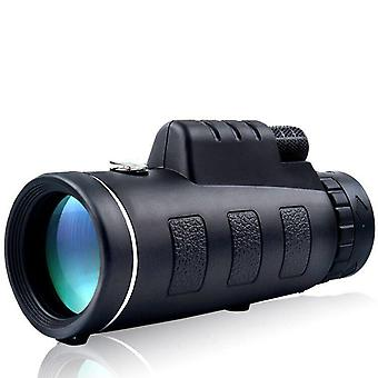 IPRee 40X60 Upgraded Outdoor Monocular With Compass HD Optic Low Light Level Night Vision Telescope