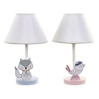 Skrivebordslampe Dekodonia PVC Metal Med stof MDF Wood Bird (22 x 37 cm)