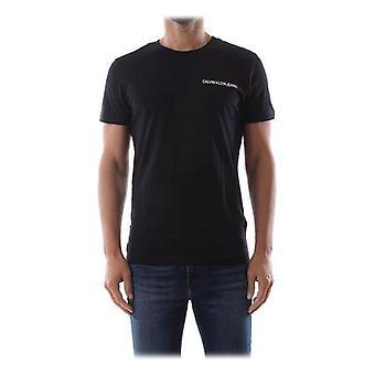 Mens Short Sleeve T-Shirt Calvin Klein E LIIN SLIM T