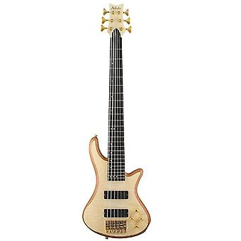 Schecter stiletto custom-6 electric bass (6 string, left handed, natural satin)