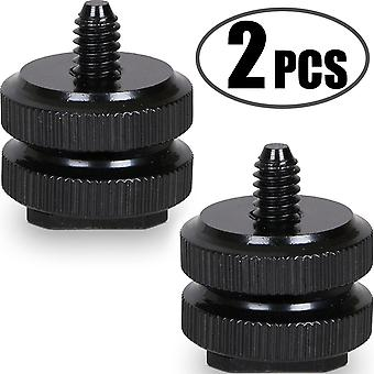 Camera hot shoe mount to 1/4 -20 tripod screw adapter,flash shoe mount for dslr camera rig (pack of wof13001