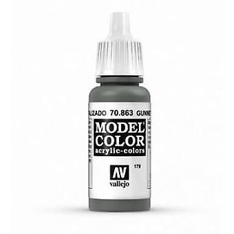 Vallejo Modèle Couleur 17ml Peinture acrylique - 863 Gunmetal Grey