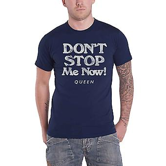 Queen T Shirt Dont Stop Me Now Band Logo new Official Mens Navy Blue