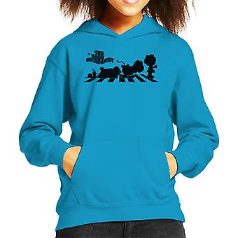 The Magic Roundabout Characters Silhouette Kid's Hooded Sweatshirt
