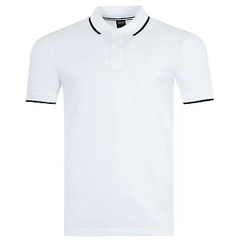 BOSS Parlay Tipped Polo Shirt - White