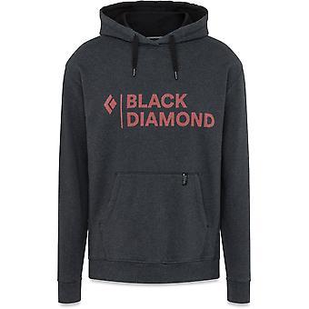 Logotipo apilado de diamantes negros con capucha - Brezo negro