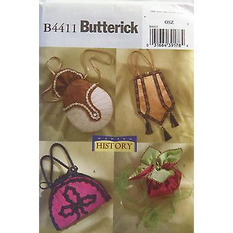 Butterick نمط الخياطة 4411 صنع تاريخ حقائب اليد حوالي 1890