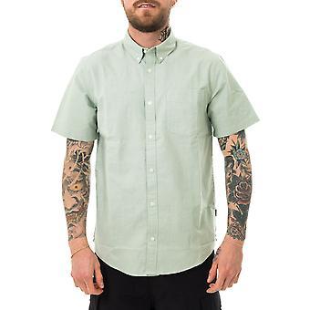 Chemise homme carhartt bouton wip vers le bas chemise de poche vert minéral i027498.oal