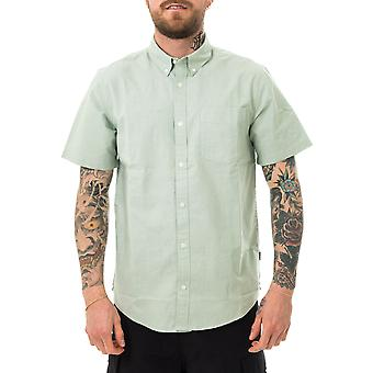 Camisa de hombre carhartt wip botón abajo camisa de bolsillo verde mineral i027498.oal
