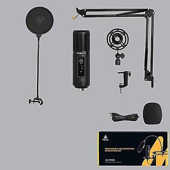 Pm422 Usb mikrofon Professional Cardioid kondenzátor mikrofon érintéses némító gombbal