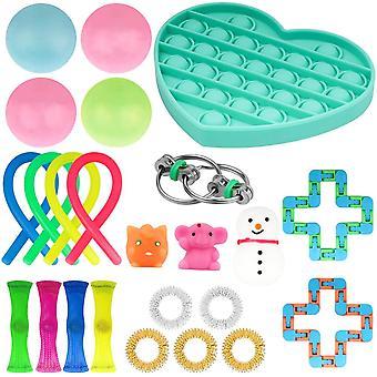 24pcsパック感覚おもちゃセットアンチストレスリリーフそわそわおもちゃ