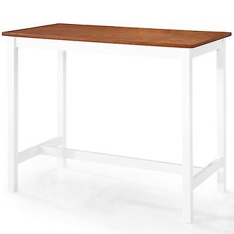 vidaXL Bar table solid wood 108 x 60 x 91 cm