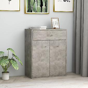 vidaXL Sideboard Concrete grey 60 x 30 x 75 cm chipboard