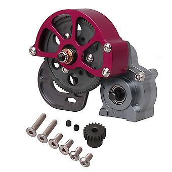 RC1:10 Direct Metal Steel Gear Gearbox Replacement for Axial SCX10 Red