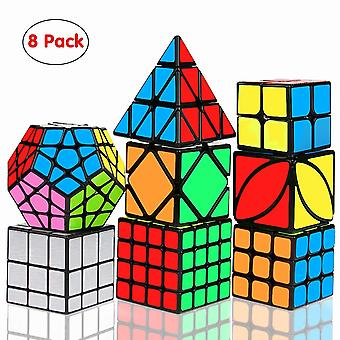 Speed Cube Set, Magic Cube Bundle 2x2 3x3 4x4 Pyramid - Toy Puzzles Cube For Kids And Adults Set Of 8