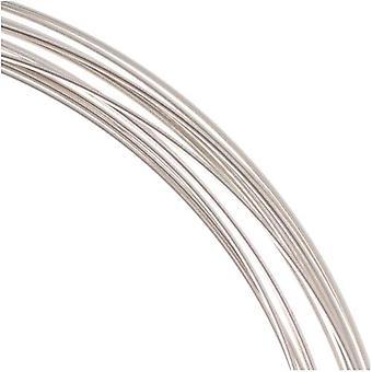 و Beadsmith غير تشويه الفضة مطلي النحاس نصف جولة حرفة حبة سلك 18Ga (12Ft)