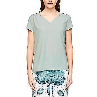 s.Oliver BLACK LABEL T-Shirt Kurzarm, 6108 Greyish Aqua, 40 Woman(2)