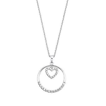 Liebe Halskette mit Anhänger für Frauen, Sterling Silber 925, mit Zirkonen(12)