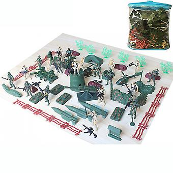 93pcs World War Military Toy Set Battlefield Figures Playset With 9cm Soldiers