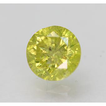 Cert 0.96 Karat Kanarienvogel gelb SI2 Runde Brillant verbessert natürlichen Diamanten 6,05m