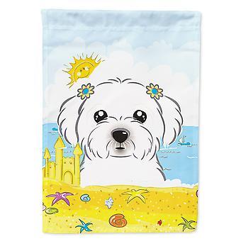 Caroline's Treasures Bb2076Gf Maltese Summer Beach Garden Flag, Piccolo, Multicolore