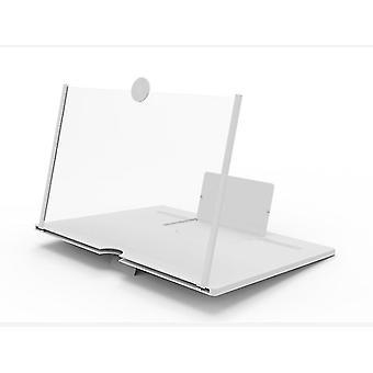 12 بوصة 26* 18 * 1.5cm أبيض قابل للطي شاشة حماية العين عدسة مكبرة، عالية الوضوح جهاز عرض الفيديو az15270