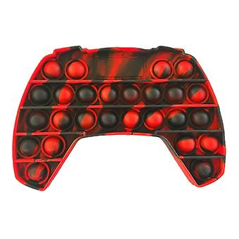 Stuff Certified® Pop It - Washed Fidget Anti Stress Toy Bubble Toy Silicone Controller Black-Red