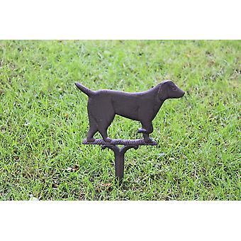Rustykalny żeliwny ogród ornament, pies