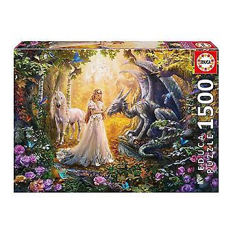 Puzzle Dragón Princesa Unicornio Educa (1500 pcs)