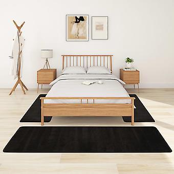 vidaXL Alfombra de cama de pila alta 3 piezas.