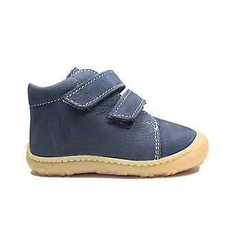 Ricosta Chrisy 1224000-170 Navy Leather Childrens Rip Tape Pre Walker Boots