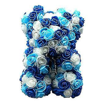 Подарок на день святого Валентина 25 см роза медведь день рождения подарок £? день памяти подарок плюшевый мишка (Синий 1#)